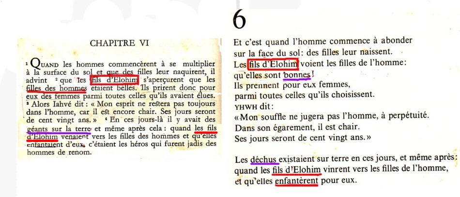 En effet, voyons ce que nous écrivent pour ce chapitre 6 Vers 1- 4 Dhorme  (1956 à gauche et Chouraqui 1974 à droite, pour se conformer, tous les deux  à leur ... 3eedce5ffa4e